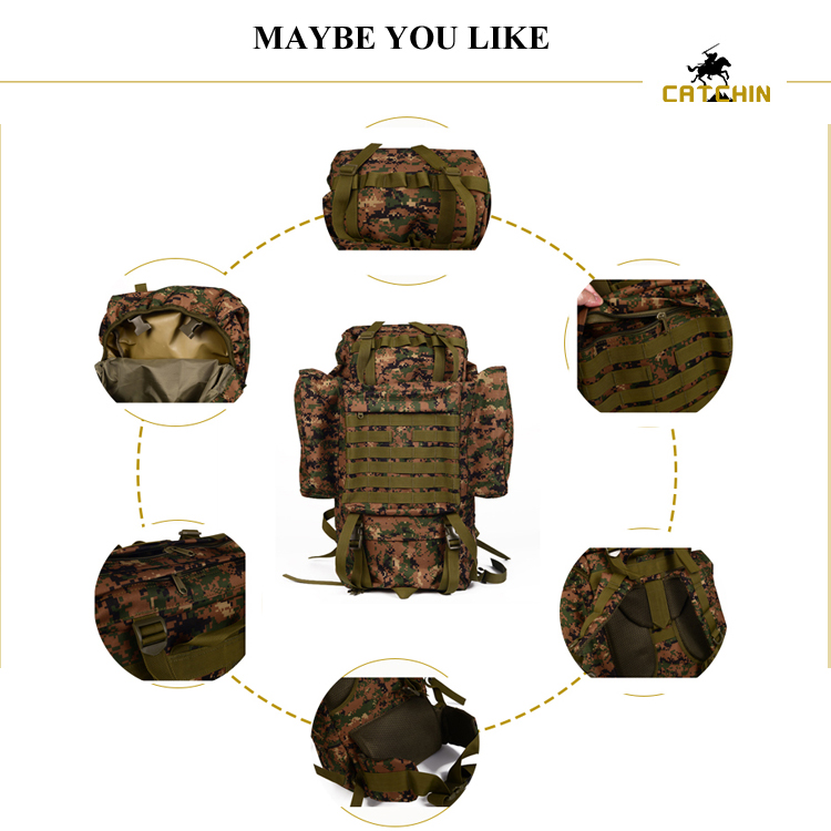 Hot sale large Capacity outdoor camping backpack tactical waterproof backpack