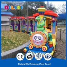 Indoor and outdoor amusement rides mini train, kids electric track rides mini train for sale