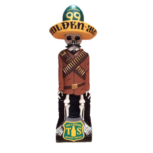 2015 Cool Design For Bar Standing Skull Statue Beer Tap Handle