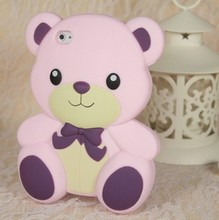 teddy bear silicone mobile phone case
