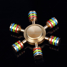 Rainbow Fidget Spinner/Hand Spinner Brass Metal For Autism Adult Anti Relieve Stress Toy Spiner