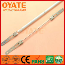 Quartz IR heater lamp of white reflector for pet plastic