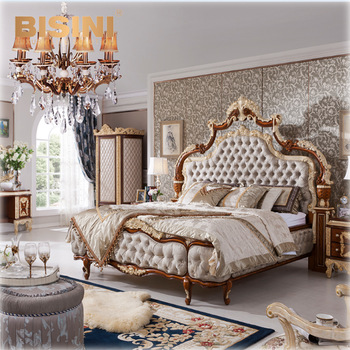 BISINI Luxury Italian Bed Collection, Luxury Antique Bedroom Furniture Set, Baroque Bed Room Set BF05-150706-2