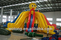 Hot selling inflatable stair slide toys, hippo inflatable water slide