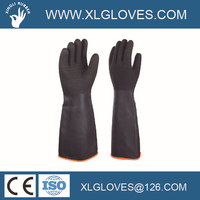 45cm crinkle palm Heavy duty rubber gloves