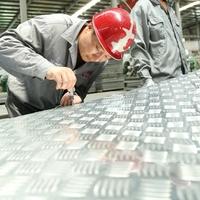 China factory 1060 3003 6061 6mm chequered weight aluminium tread plate 5 bars