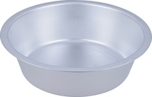 Durable big round aluminum metal wash basin