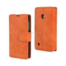 PU Leather Magnetic Flip Case Skin Cover For Nokia Lumia 530