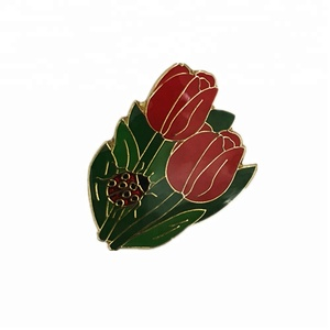 Valentine the best gift red rose soft enamel lapel pin for women