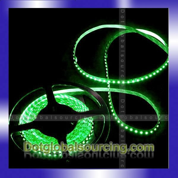 Wholesale Waterproof Green 600 LEDs 5m Flexible Strip Light DC12V LED Strip