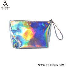 Fashionable New Product Holographic Cosmetic Bag, Makeup Bag With Zipper