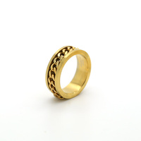 High Quality Stainless Steel Gold Rings Without Stones