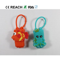 Hot sale high quality waterless hand soap silicone rubber pocket hand sanitizer holder