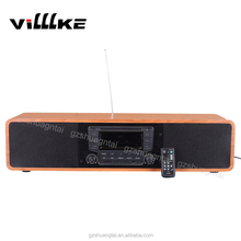 2016 Classical MDF Hifi Sound bar with CD Player and USB/AUX/BT+ full functions remote control