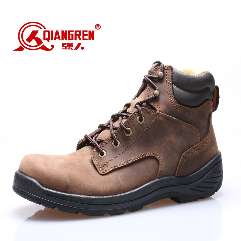 Waterproof high heel steel toe safety shoes for men
