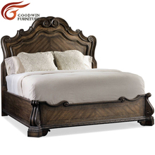Europe style Italian American <strong>furniture</strong> luxury classic king size Hooker wooden bedroom <strong>furniture</strong> designs double carved bed