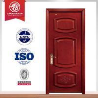 Fancy wood door design customized modern design paint colors wood doors with fiberglass