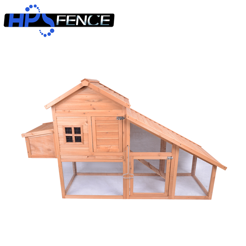 Farm large solid wooden chicken coop with nesting box