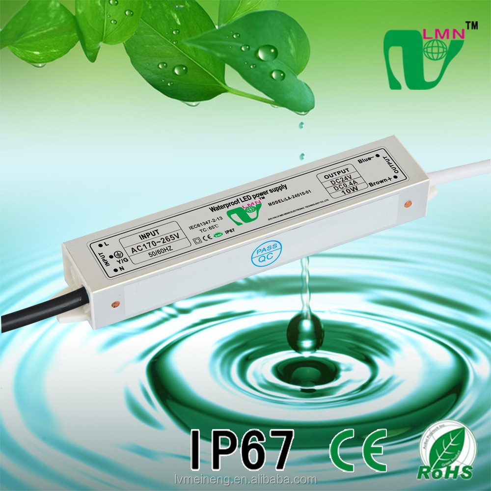 China 24V 400mA low power IP67 waterproof 10W constant current led driver supply