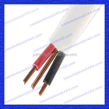 TUV UL Listed Copper Conductor PVC Insulated and Sheathed Flat TPS Cable 2*1.5+1.5mm2 Flat TPS Cable 2.5mm twin and earth