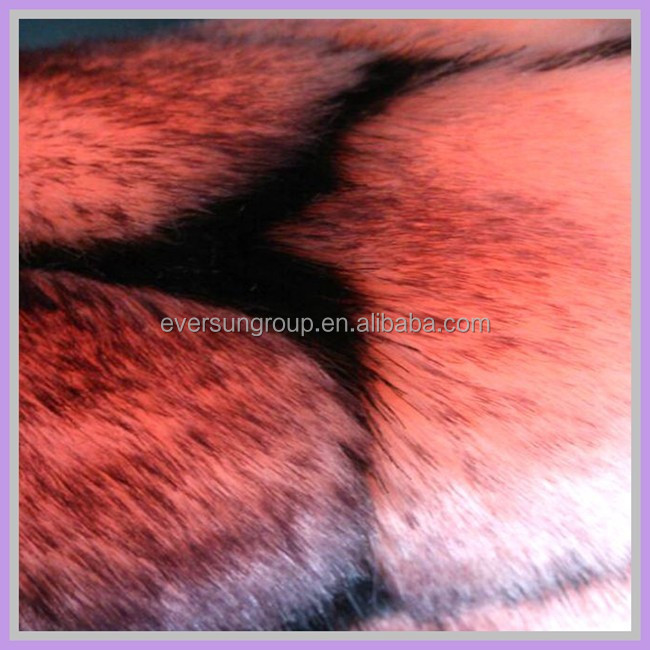 acrylic knitted jaquard fabric fake wolf fur tip print plush Alibaba China
