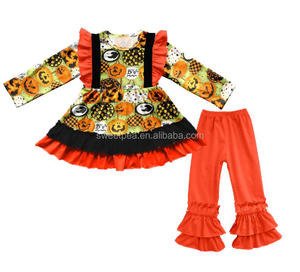 wholesale children's boutique clothing giggle moon remake girls outfits Halloween clothing sets