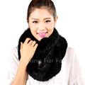 CX-S-167A Wholesale Custom In Stock Long Knit Ranch Raised Brown Mink Fur Scarf