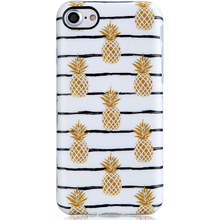 Gold Pineapple Design Clear Bumper Matte TPU Shiny Soft Rubber Silicone Cover Phone Case for Apple iPhone 7