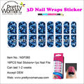 British Style Nail Wraps Custom Nail Art Stickers Fashionable Woman Beauty Product