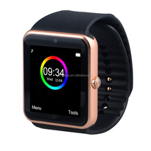 CE ROHS gt08 smart watch,Compatible with Android/IOS System, Make phone call directly from the android smartphone sim card
