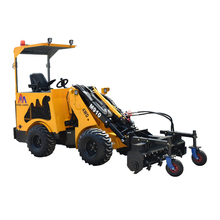 Small farms tractor articulated hydraulic drive 1.2 ton carrying capacity wheelloader