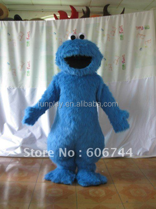 HI high quality CE/ASTM plush adult cookie monster mascot costume