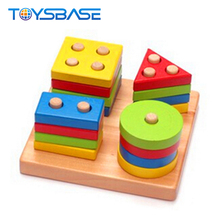 2018 Baby Wooden Toys Wholesale Color Sorting Juguetes Learning Wooden Toys For Small Kids