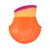 Fashion Plastic Handle Orange Seashell Makeup Brush Gift