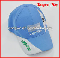 Argentina flag hat embroidered fans cap