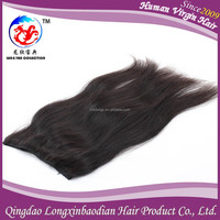 Micro ring loop human hair lace weft/flip-in 100% genuine human hair extension/cover fish line human hair weaving