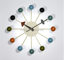 Modern Decorative Wooden rolling Ball wall Clocks