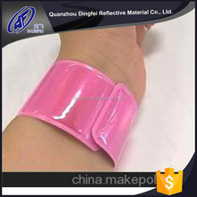 china wholesale custom 2017 safety reflective slap band safety armband