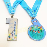 2017 Printing Sticker Running Sports Medals