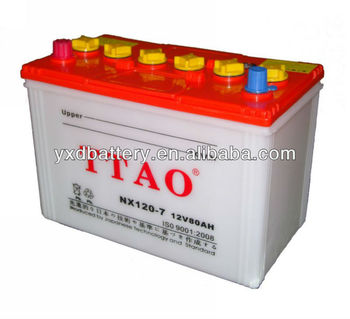 Manufacturing 12V 80AH Electric Car Dry Battery