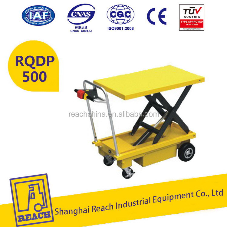 Power operated sell well electrical portable scissor lift table