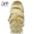 Thickest Virgin Human Hair Types Of 100% Luxury Remy Brazillian Deep Curly Blonde Lace Front Wig