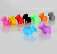 Wholesale cheap price cute pig silicone mobile phone holder