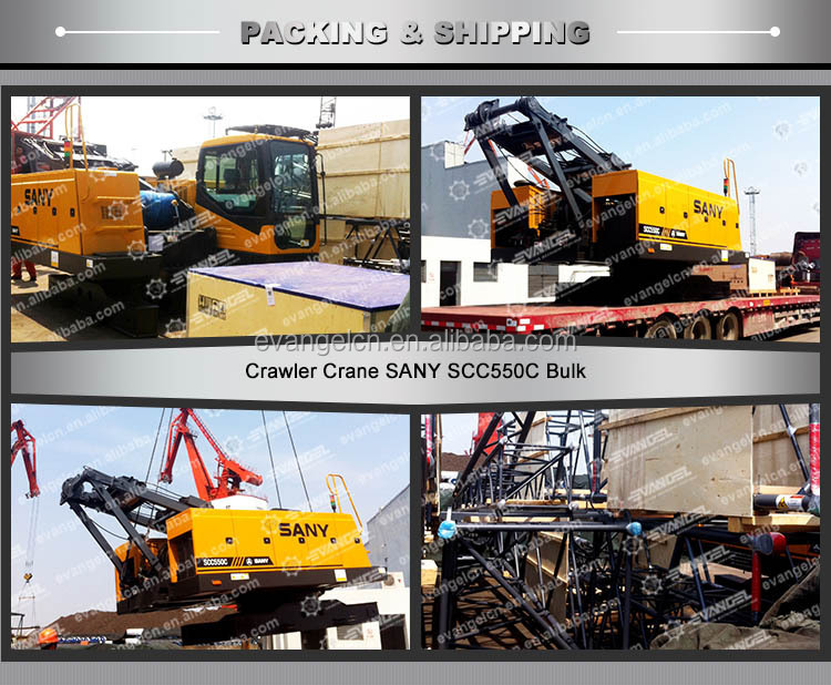 Sany new 55 ton mini crawler crane SCC550E