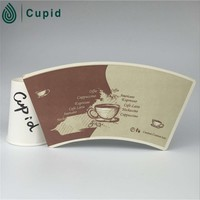 TL-X173 printed and cut paper cup fan, virgin wooden pulp, OEM ...