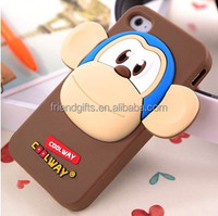 Promotional silicone mobile phone cases for gift 3d soft pvc case for phone
