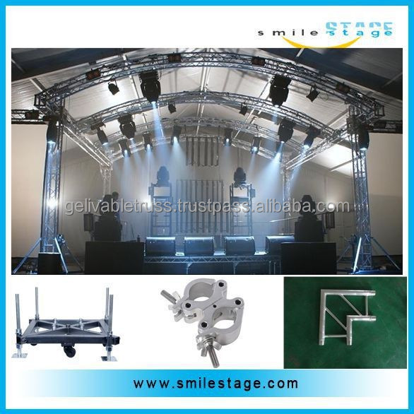 assembling stage roof truss with aluminum truss wings