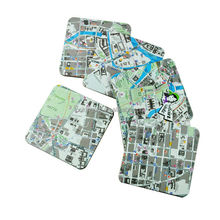 china promotional cute customised brands print coaster city
