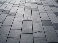 Black slate garden stepping pavements paving stone