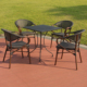 outdoors garden wicker plastic pp rattan leisure hotel indoors table chair aluminum furniture